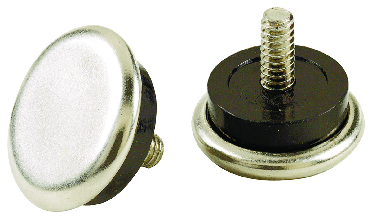 "1//2/"" /& 1/"" 16 Adjustable Threaded Nickel-based Furniture Stem Glide Levelers"