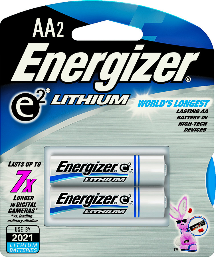 Energizer L91BP 2 Eveready 2 Pack Aa Lithium Battery