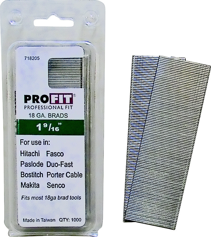 National Nail 0718205 Pro Fit 1 9 16 Inch By 18 Gauge Collated Brad Nails Pack Of 1000 042928127223