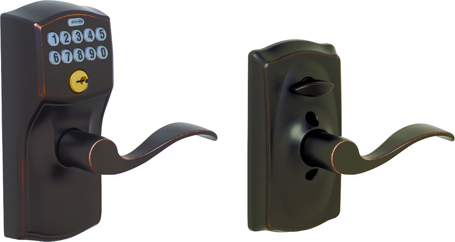 Schlage Lock Fe595v Cam Acc 71 Camelot Accent Bronze