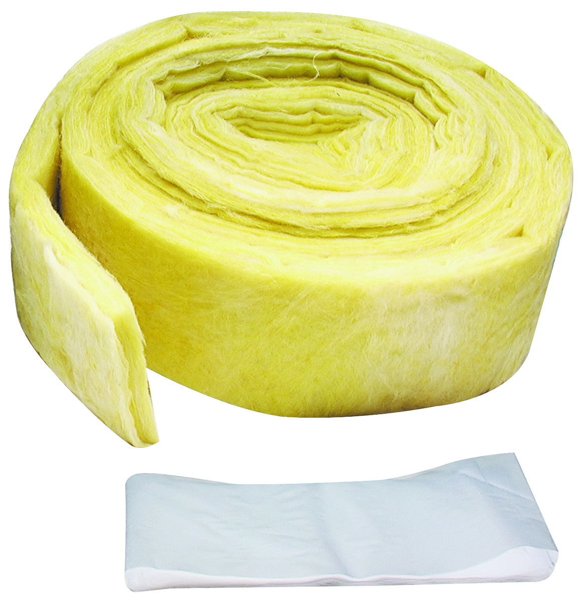 MD Building Products 04929 3 Inches By 25 Foot Yellow Fiberglass Pipe Wrap