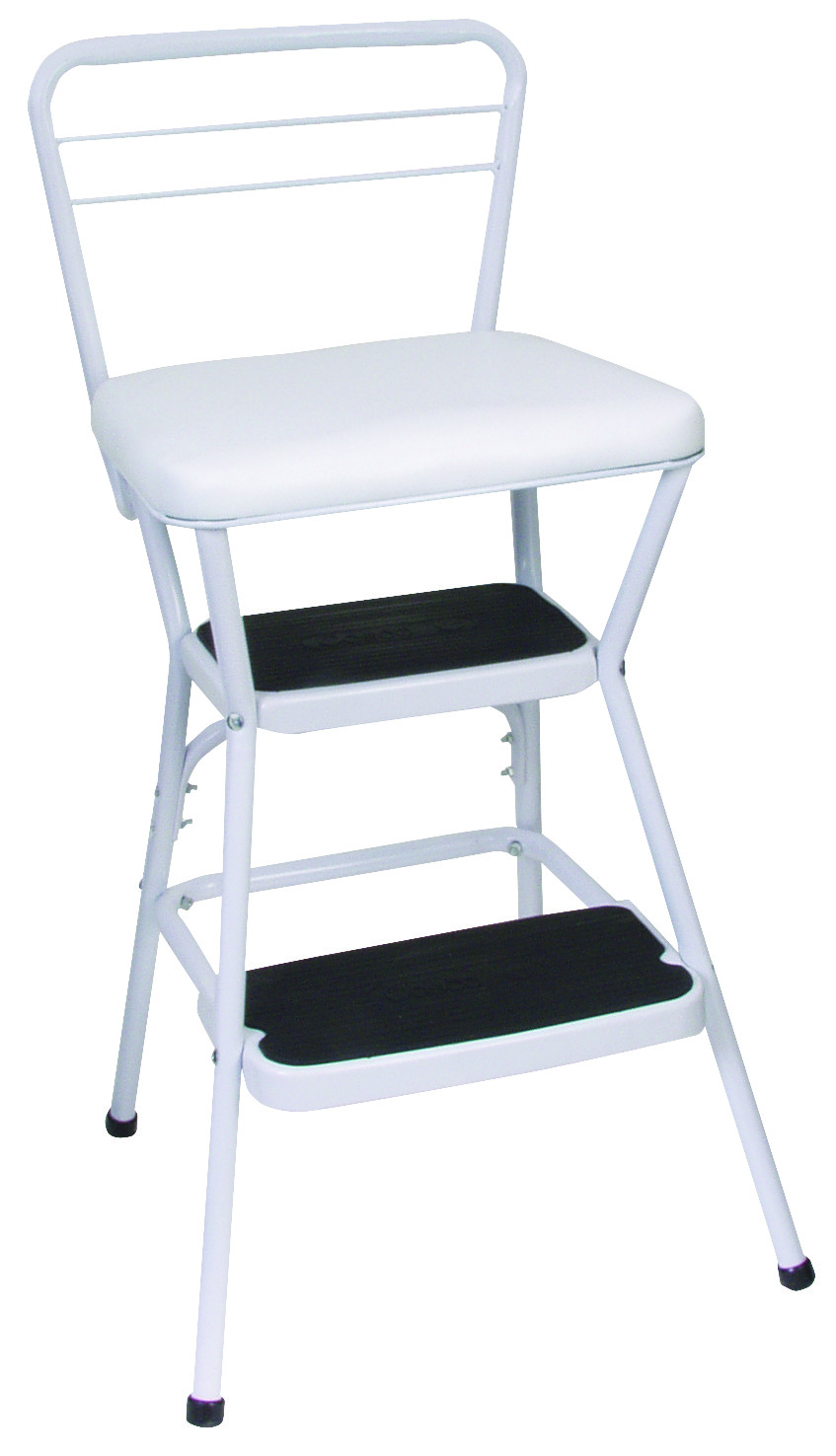 Charmant Cosco 11130WHT Stool Counter Chair/Step Wht. Tap To Expand