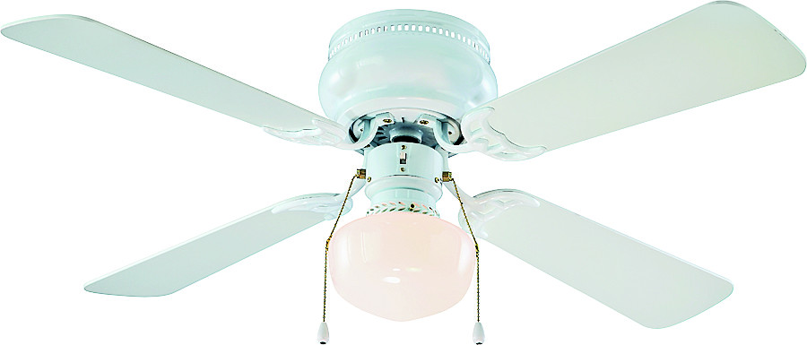 Electrical Lighting Ceiling Fans Accessories 30 To 42 Inch Boston Harbor Cf 78126 White 1 Light Hugger Fan