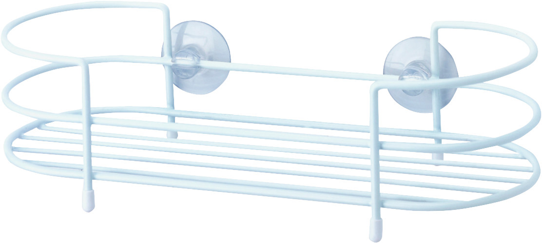 HomeBasix SS-SC-29-PE-3L Shower Caddy Tray White (045734990807) [1]