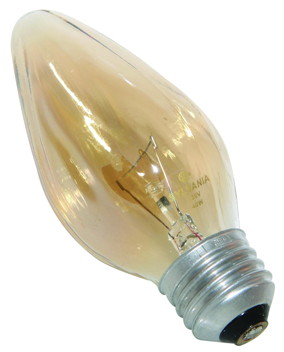 Sylvania 13986 40 Watt Decorative Light Bulb Incandescent Flame F10