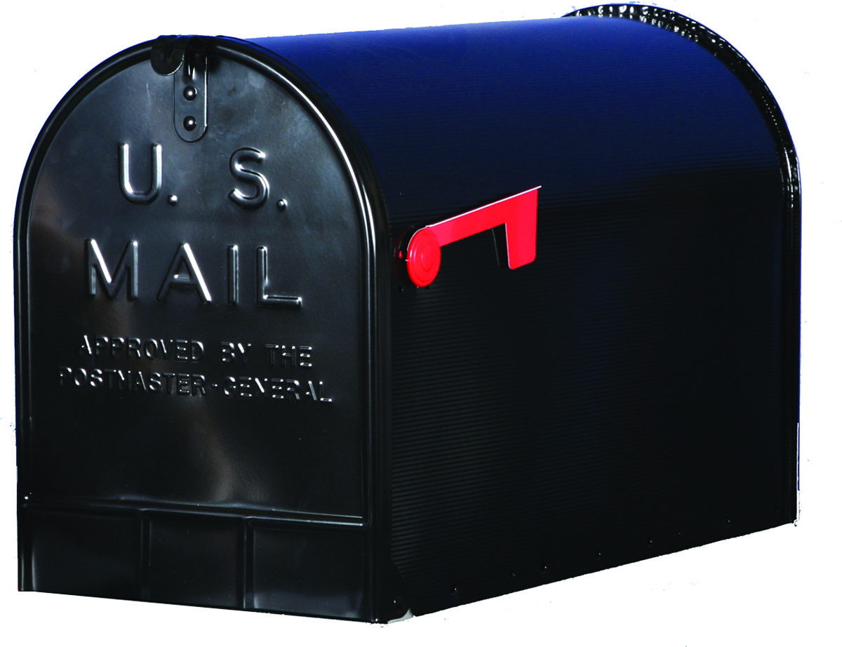 Solar Group ST200B00 Stanley Black T3 Rural Mailbox