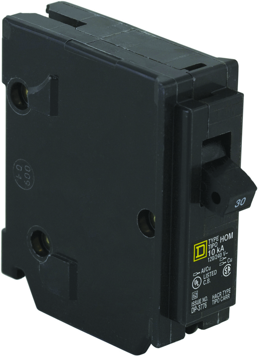 "1/"" Square D HOM130CP Homeline Single Pole Circuit Breaker 30 Amp"