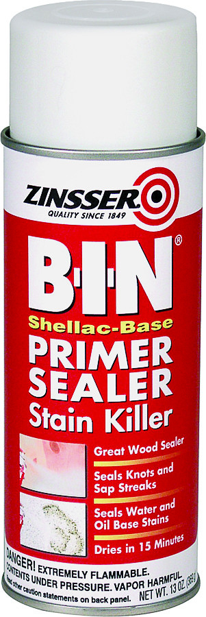 Zinsser 01008 B I N Shellac Base Primer Sealer Spray White