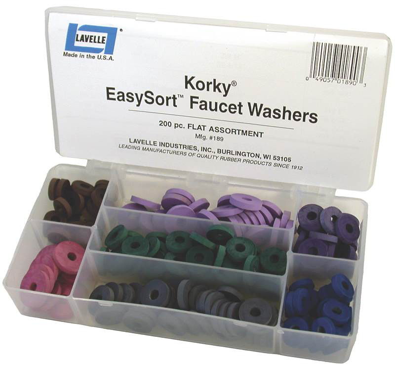 Lavelle 000189 Korky Flat Faucet Washer Assortment (049057018903) [1]