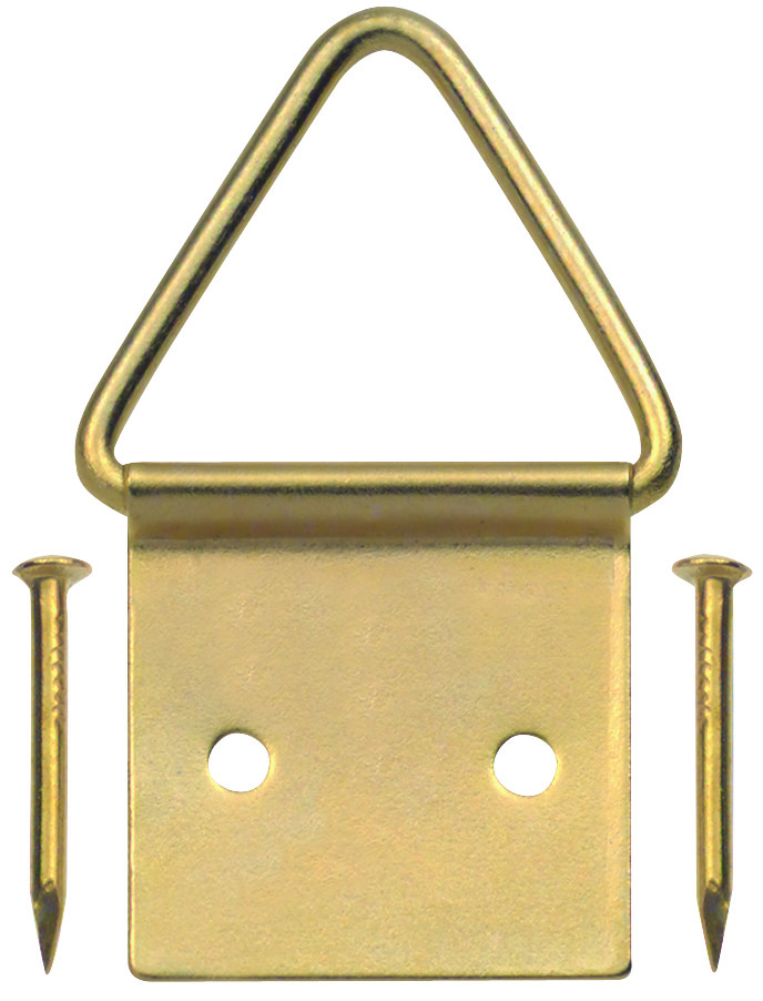 Hillman 50205 Ook Picture Frame Triangle Ring Hangers Medium Brass ...