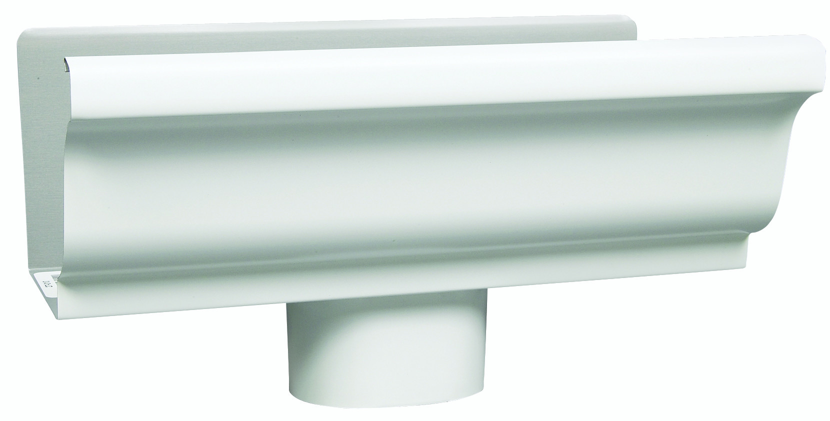 Amerimax 27010 White Gutter End Piece With Outlet 5 Inch