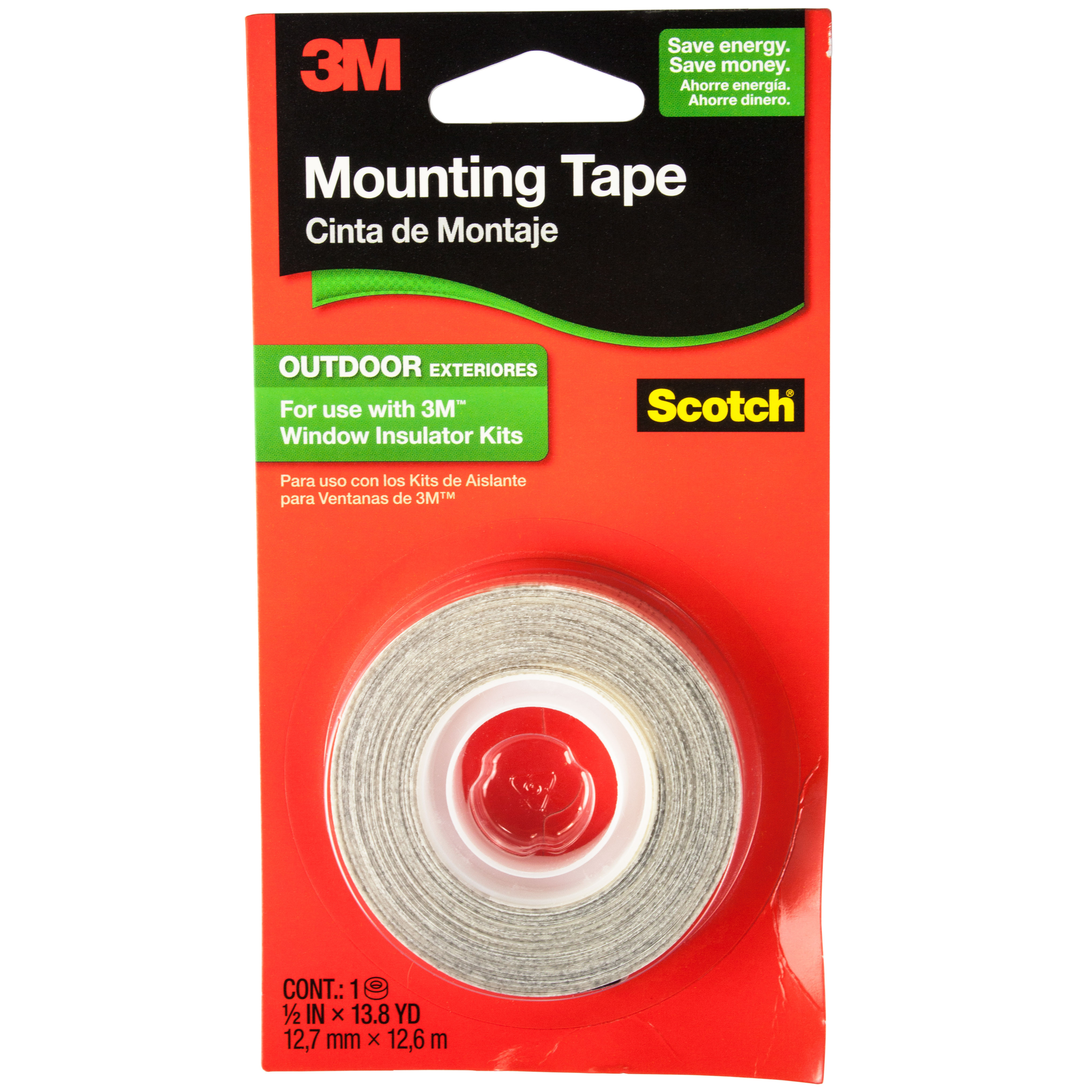 3m 2175 scotch exterior window film mounting tape 1 2 inch by 497