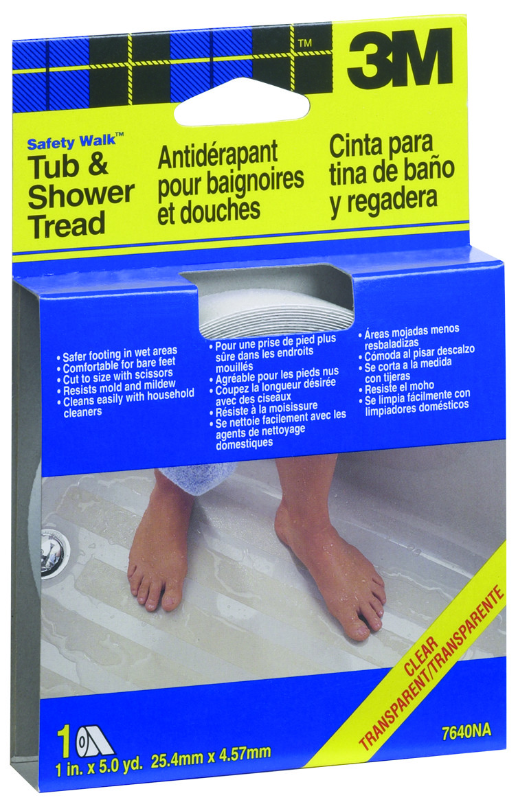 3M 7640 Safety Walk Anti Slip Clear Tub And Shower Safety ...