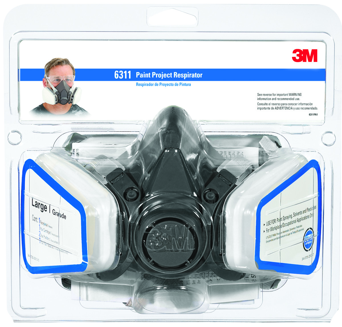 3m large paint project respirator mask