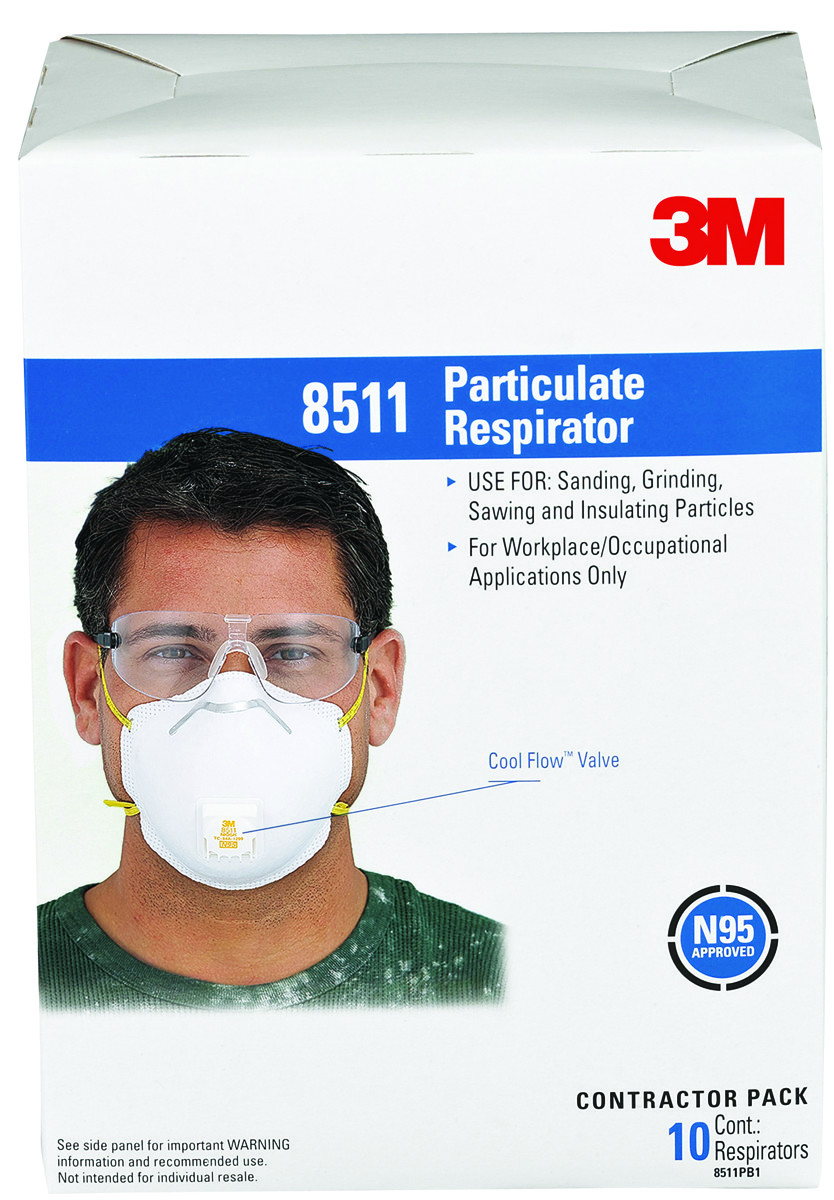 Valve 3m Pack Particulate Respirator N95 10 8511pb1-a-ps With
