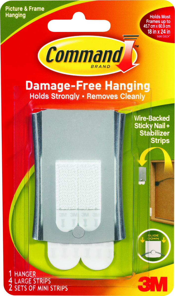 3M 17048 Command Sticky Nail Wire Hanger (051141320830) [1]