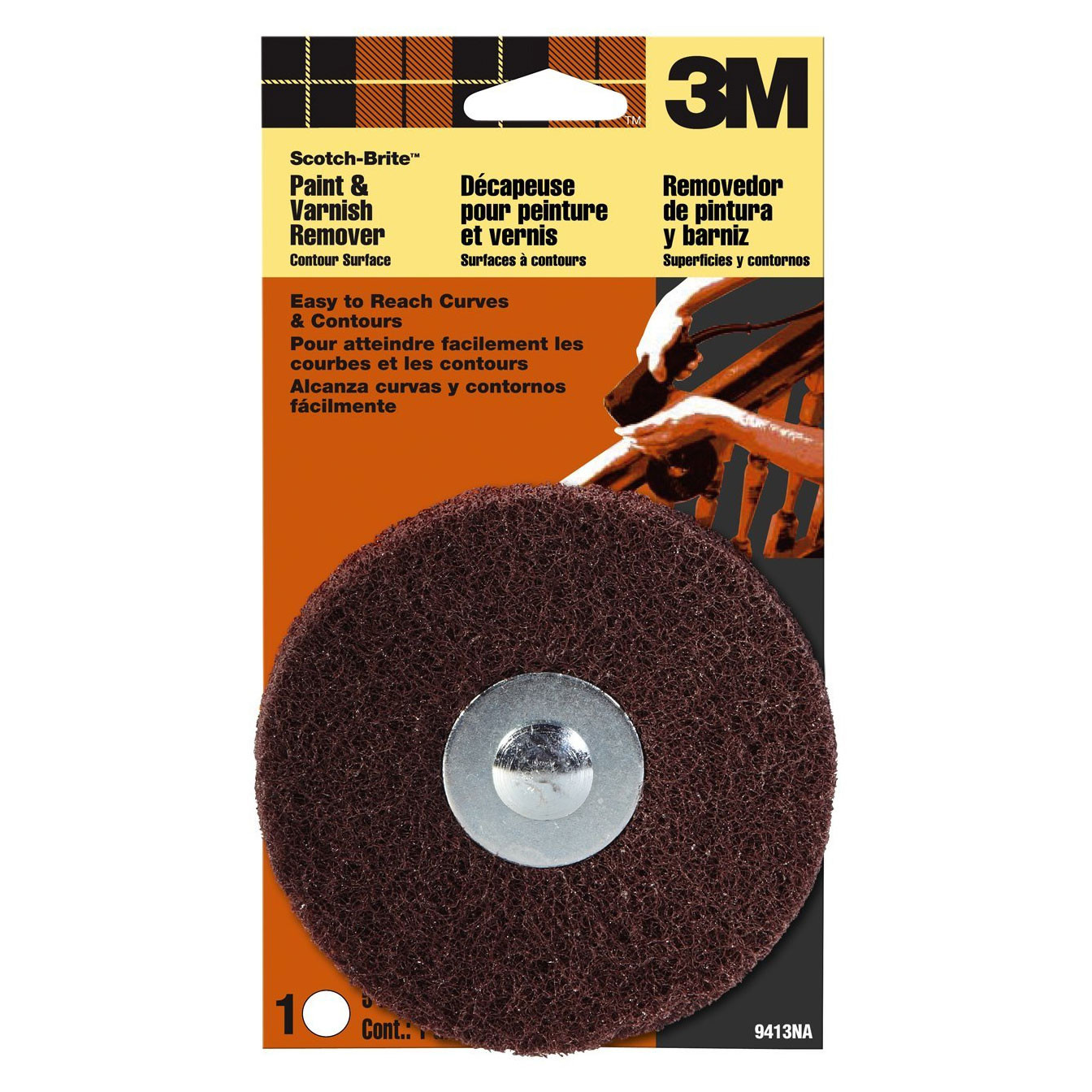 3M 9413NA Contour Surface Sanding Disc For Paint And Varnish Removal