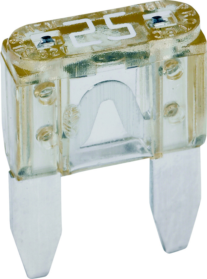 Mini Blade Fuse 25amp Clear Pack of 5
