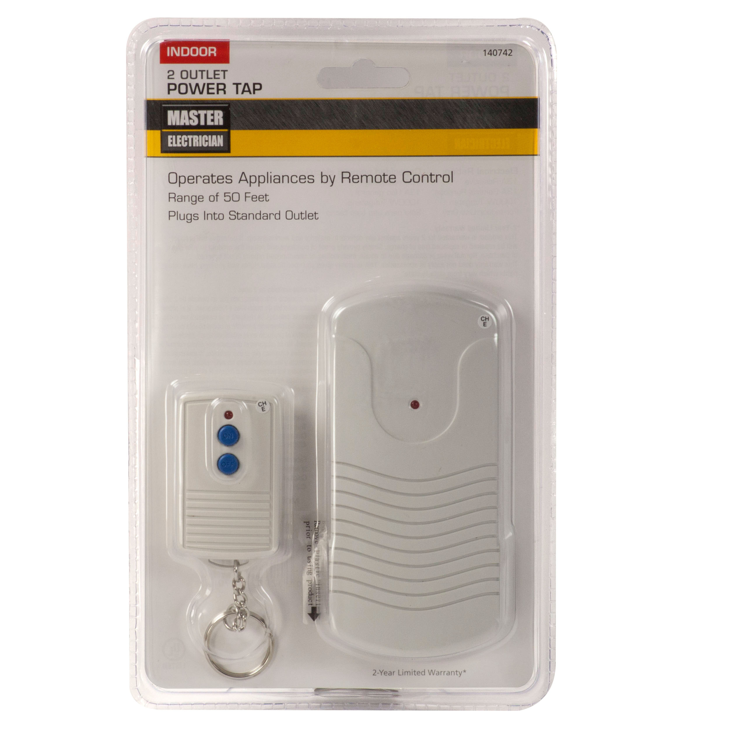 Master Electrician RC-004/TR-009-1B Two Outlets Indoor Wireless ...