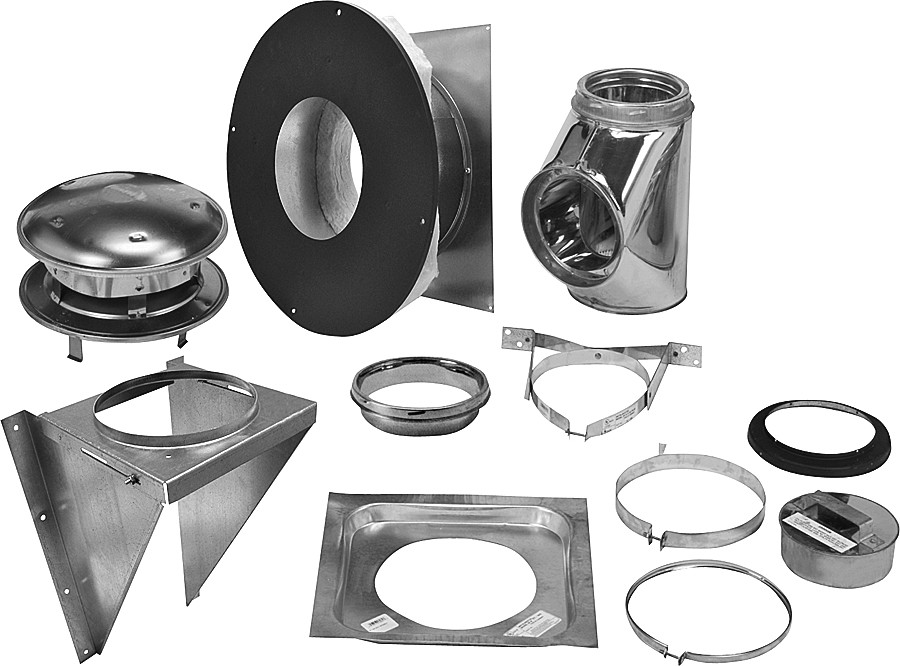Selkirk 208622 8 Inch Thru The Wall Support Kit