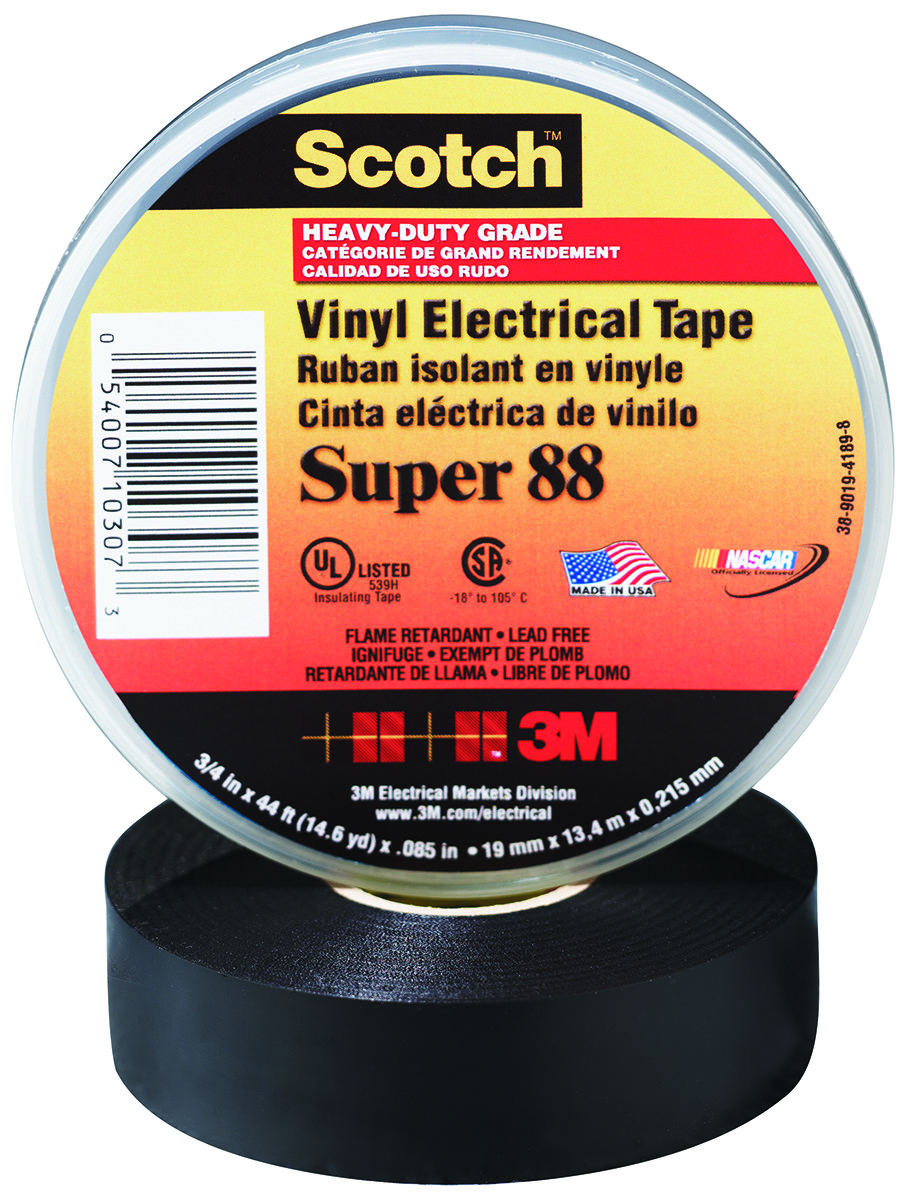 3M COMPANY 195P Electrical Tape 3//4 x 200-Inch