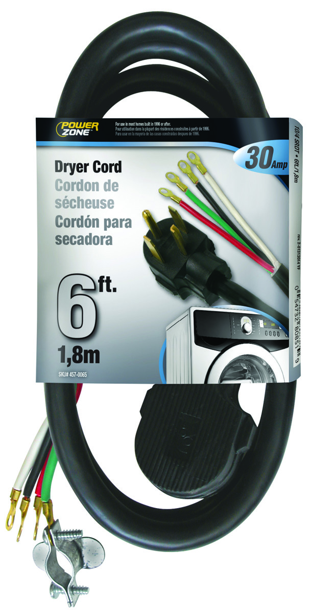 Power Zone ORD100406 Cord Dryer Indr 10/4X6ft Black