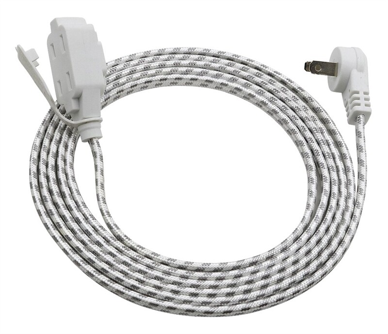 Power Zone ORFC926609 3 Outlet Flat Plug 16/2 Extension 9 Foot Gray