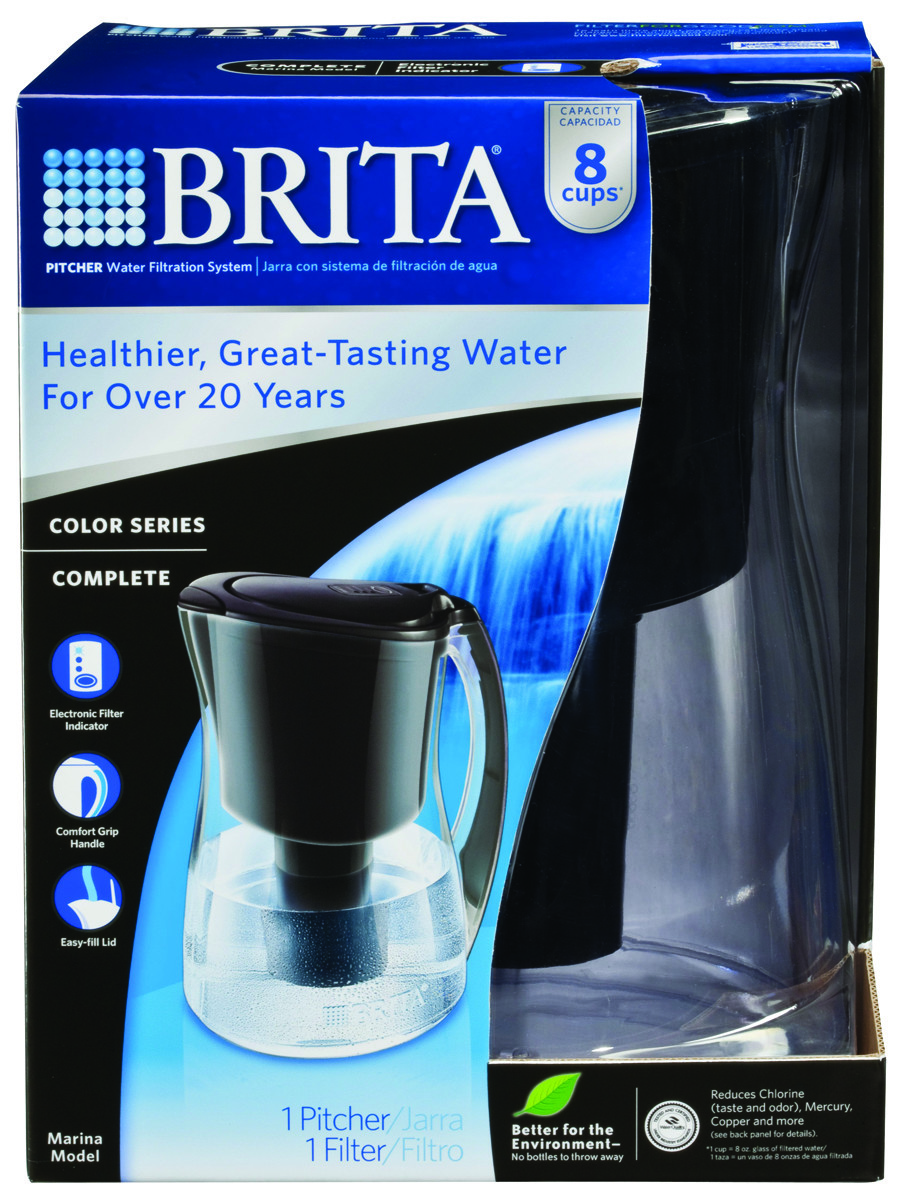 Brita 35659 Pitcher Filtrd Black 64 Oz (060258356595) [1]