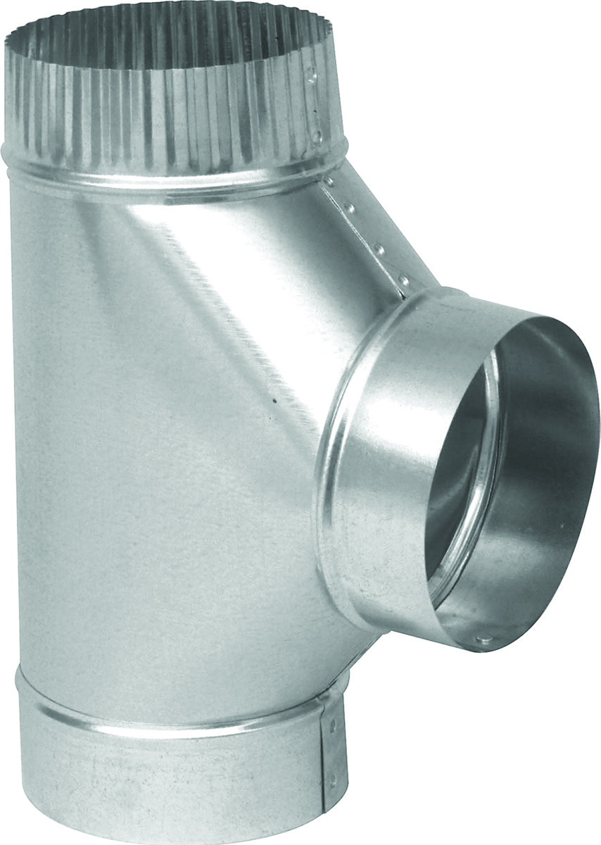 Inch 26 Gauge Galvanized Stove Pipe Tee Tap To Expand