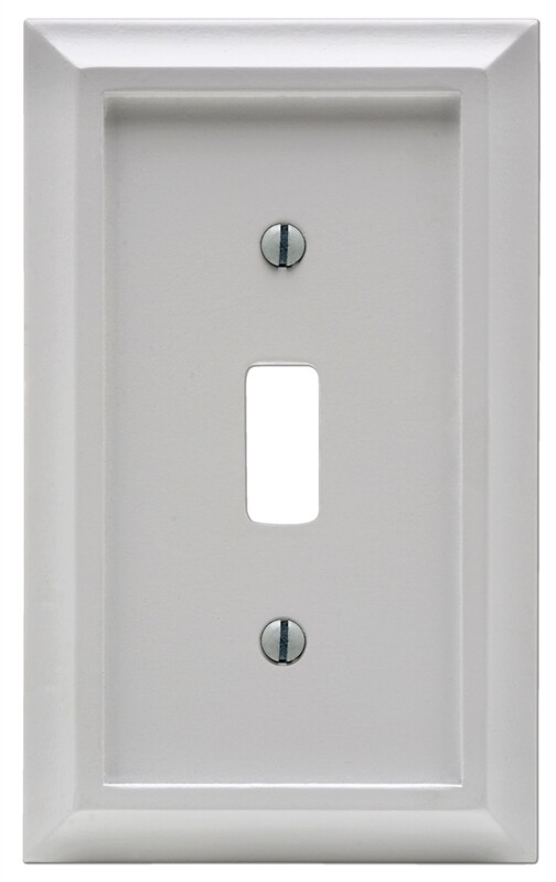 Amertac 2040tw Deerfield Toggle Switch Wall Plate 1 Gang White Wood 070686586198 1