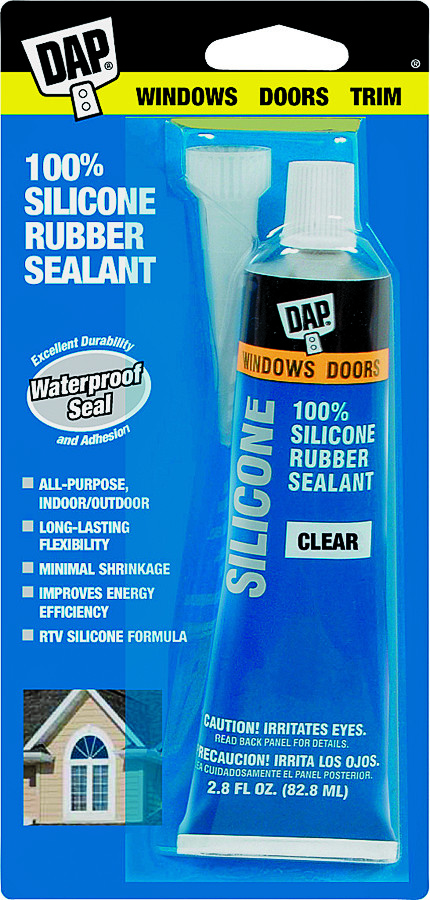 Dap 00753 2 8 Ounce Clear Silicone Sealant