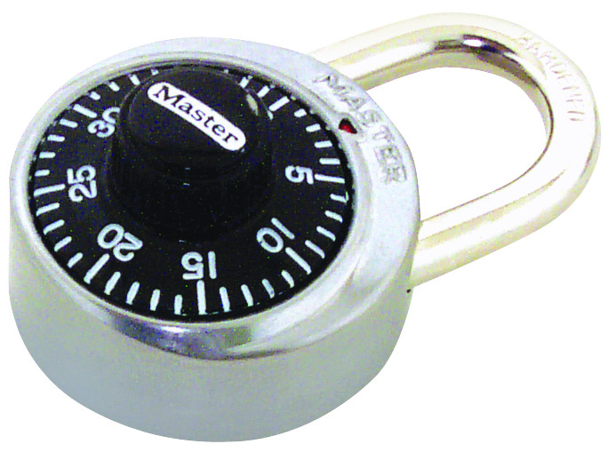 Master Lock combination lock black dial//stainless steel 1500D