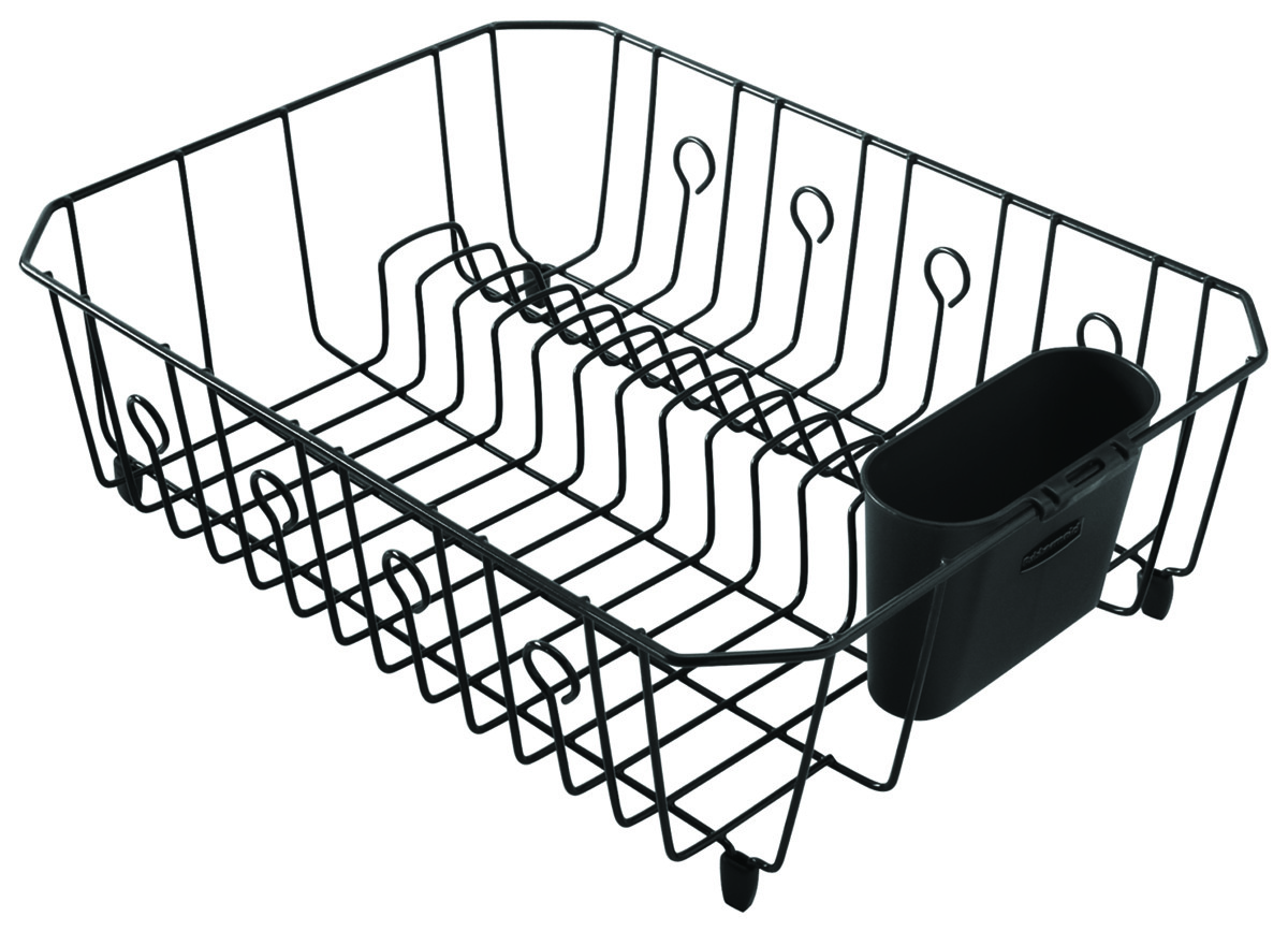Rubbermaid Home 6032-AR-BLA Large Black Wire Dish Drainer ...