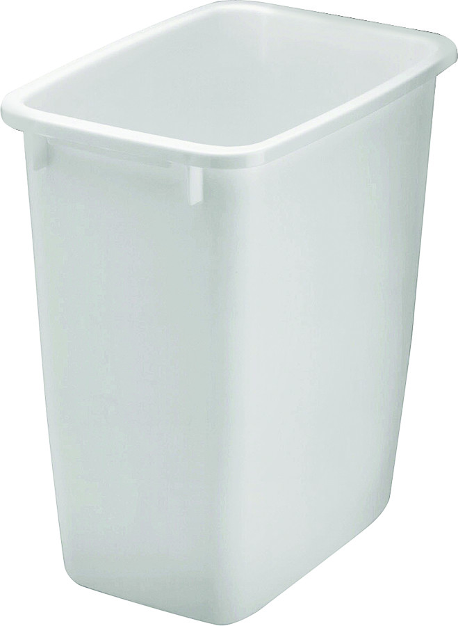 21 Qt Large Open Wastebasket Stunning Rubbermaid Home 280500Wht 21 Quart White Rectangle Wastebasket