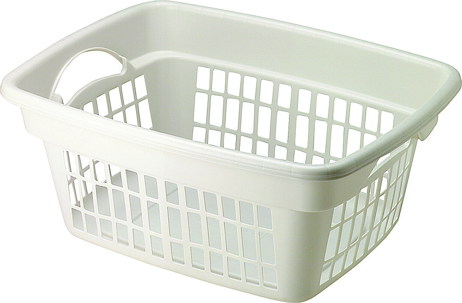 Rubbermaid Home Fg287400wht 1 4 Bushel White Clothes Hamper Case Of 8