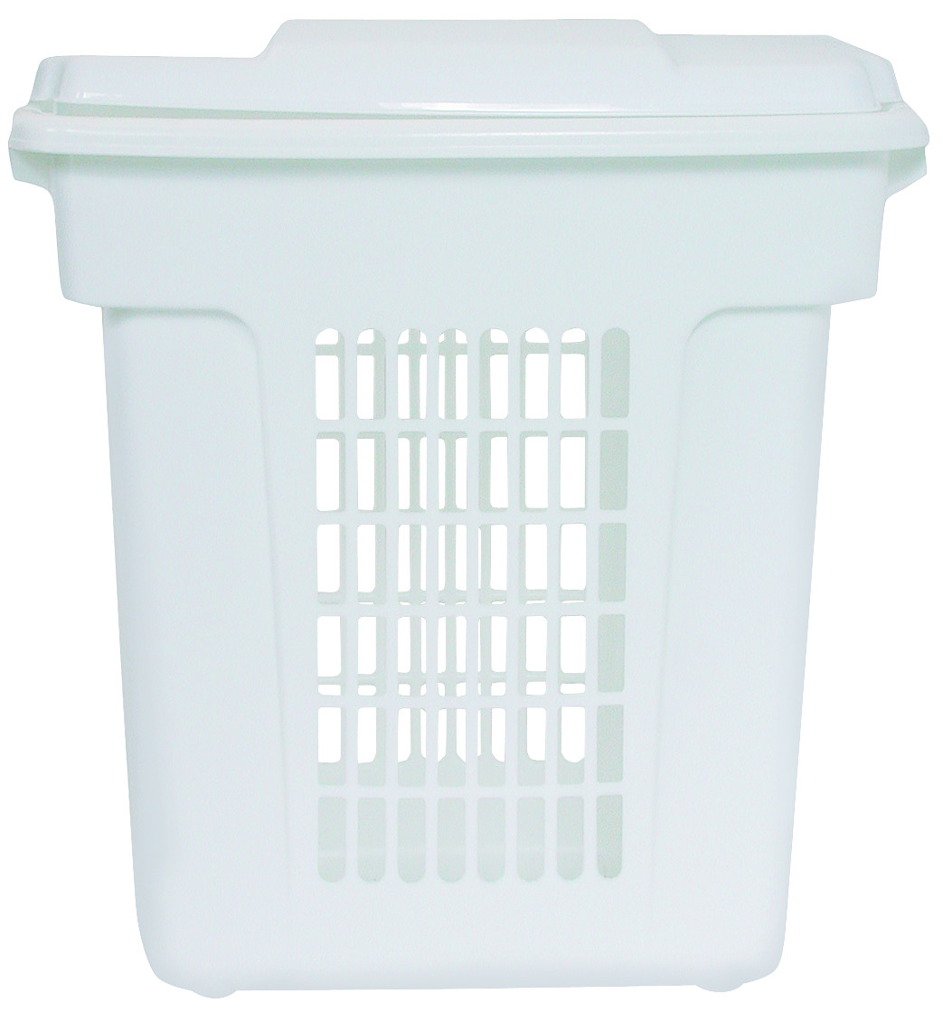 Rubbermaid Home Fg299000wht 1 2 Bushel White Clothes Hamper Case Of 6
