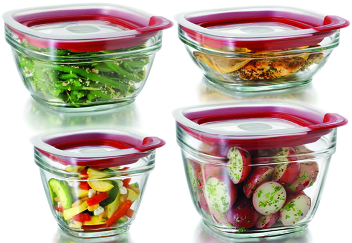 Rubbermaid Home 2856008 Easy Find Lids Glass Food Storage Container