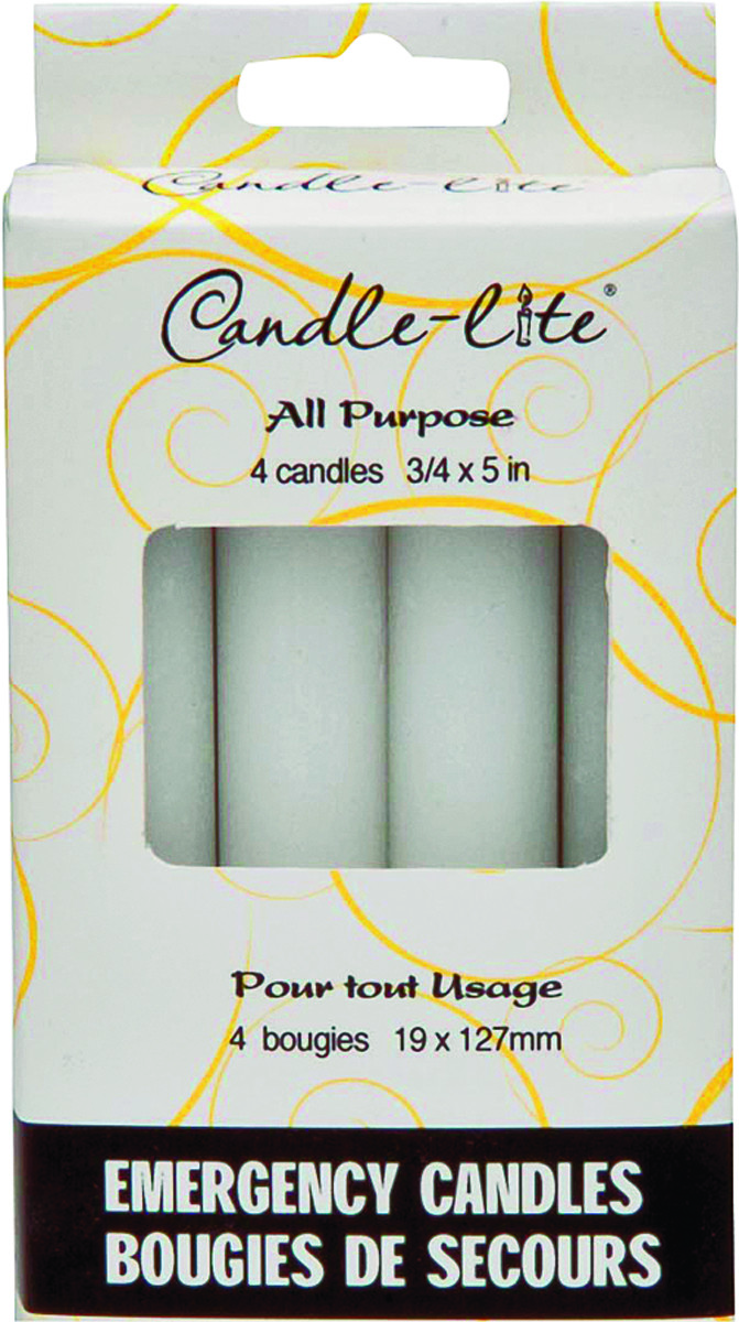 Candle Lite 3745595 4 Pack Household Emergency Candle