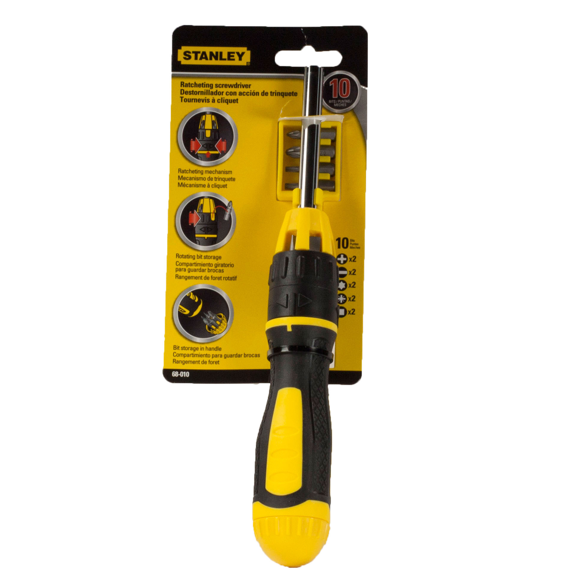 Stanley 68-010 3 in Multi-Bit Ratcheting Screwdriver