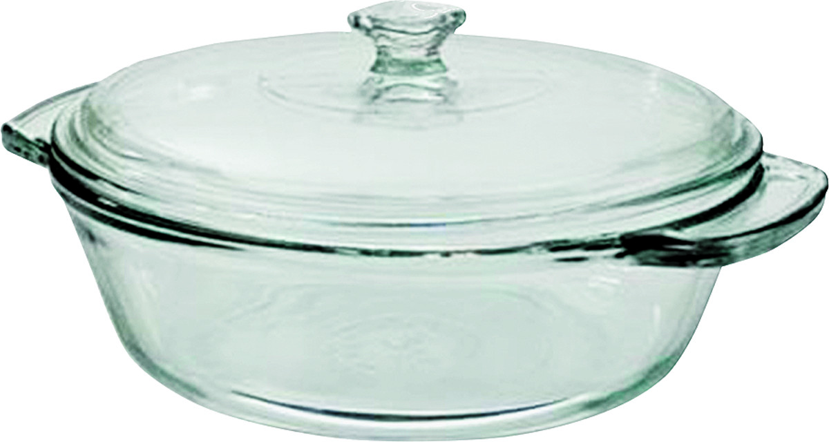 Anchor Hocking Ahg18 Oven Basics Glass Casserole Dish With Cover 2