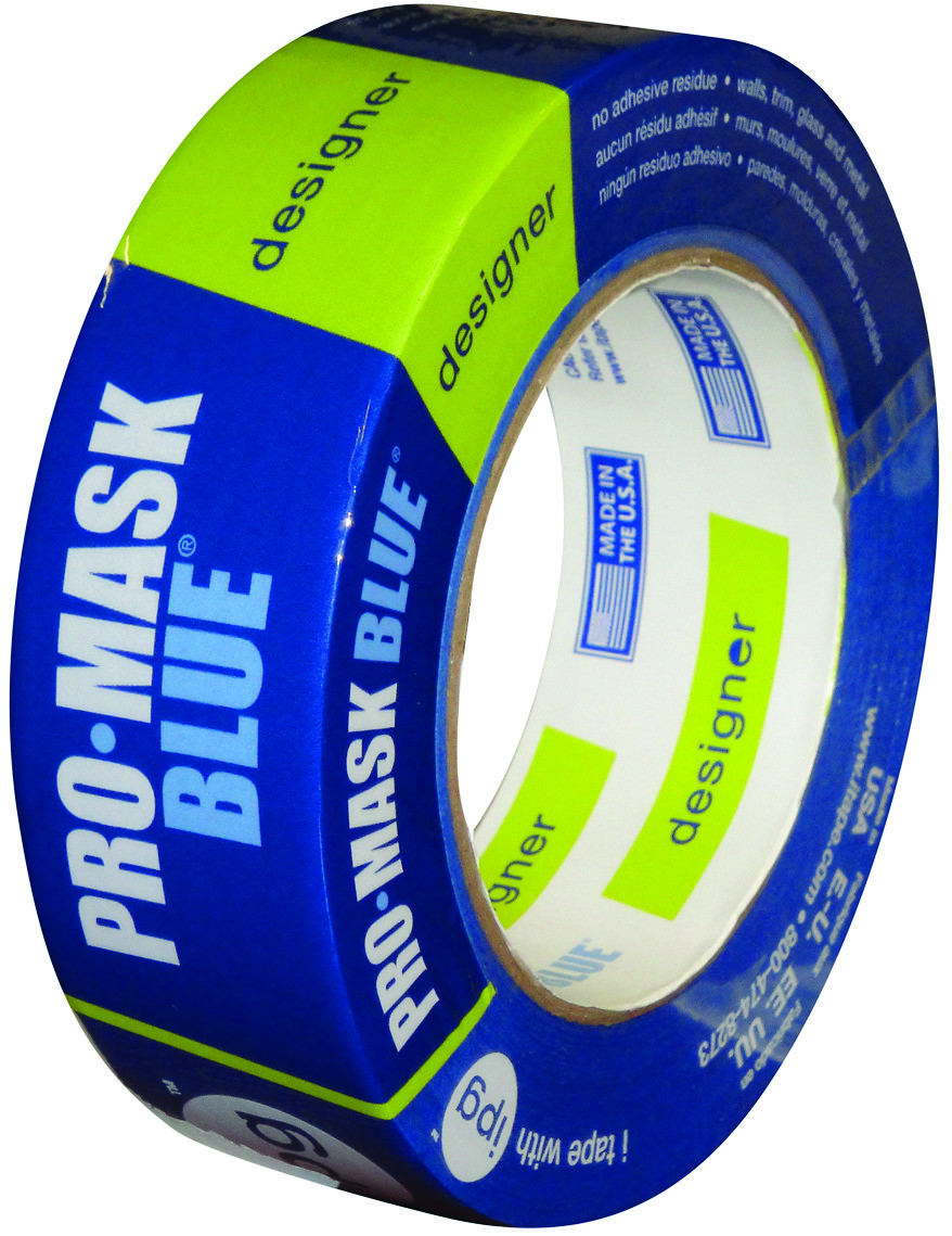 IPG PMD24 ProMask Blue Designer 14-Day Painters Tape 0.94 x 60 yd, Single Roll