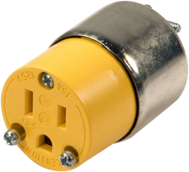 Leviton R00-515CA 3 Wire Grounded Yellow Armored Connector ...
