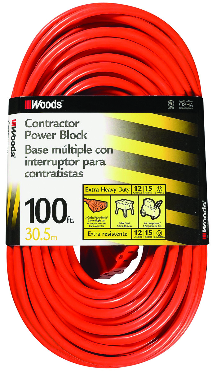 Outstanding Coleman Cable 0820 12 3 By 100 Foot 3 Outlet Power Block Wiring Digital Resources Biosshebarightsorg