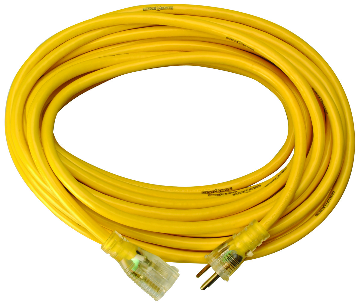 Coleman Cable 2991 Yellow Jacket 10/3 By 50 Foot T Blade Extension ...
