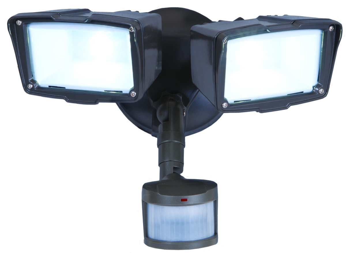 Cooper lighting mst18920l all pro 180 degree motion activated twin hover to zoom workwithnaturefo