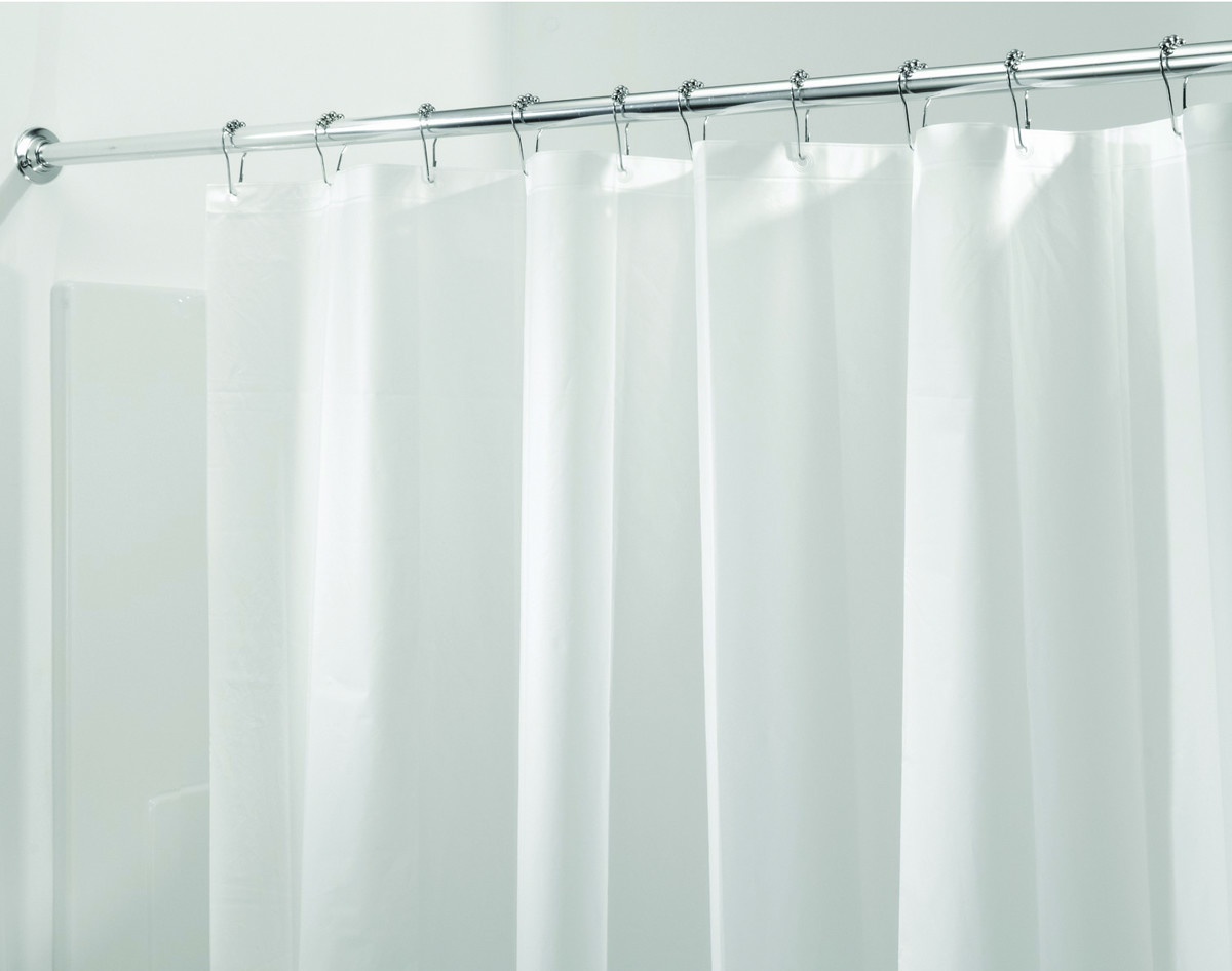 InterDesign 12052 Clear Shower Curtain Liner 100 PEVA Mold And Mildew Resistant Tap To Expand