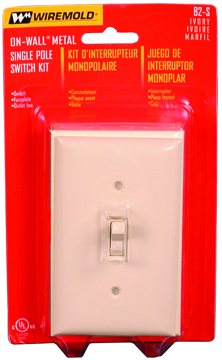Wiremold B2s Outlet Box Sgl Switch Ivory 086698000232 1 Wiring Single Tap To Expand