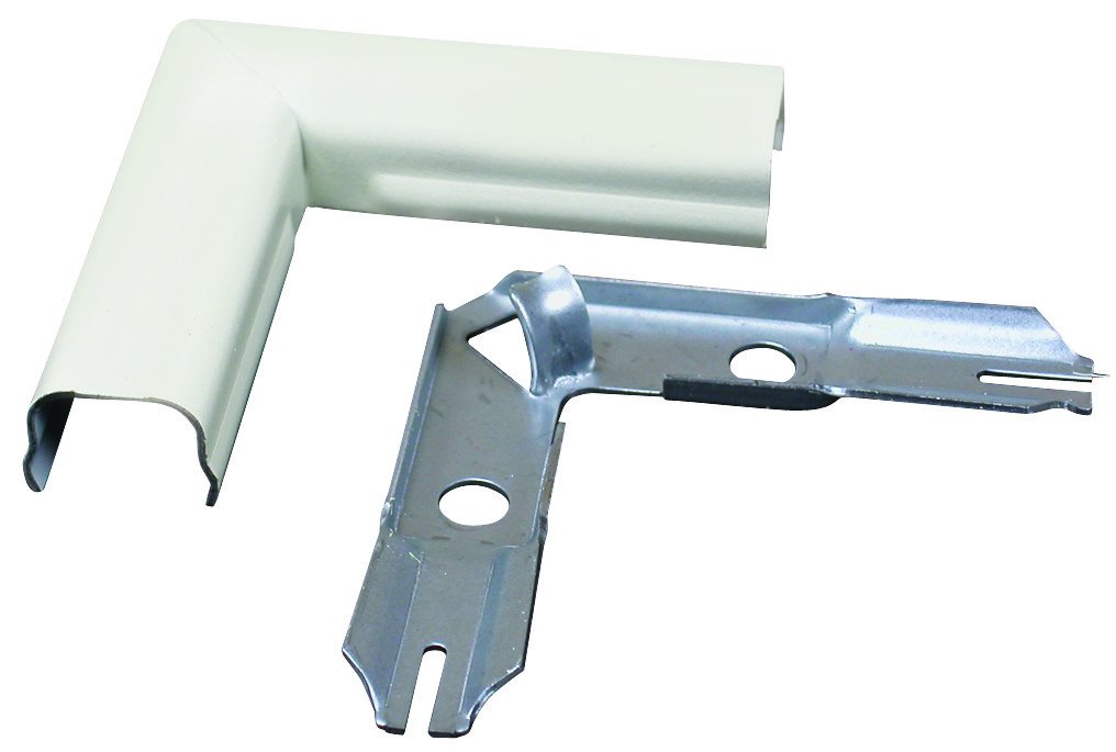Wiremold Company C6 Plastic Flat Elbow Cord Cover Ivory