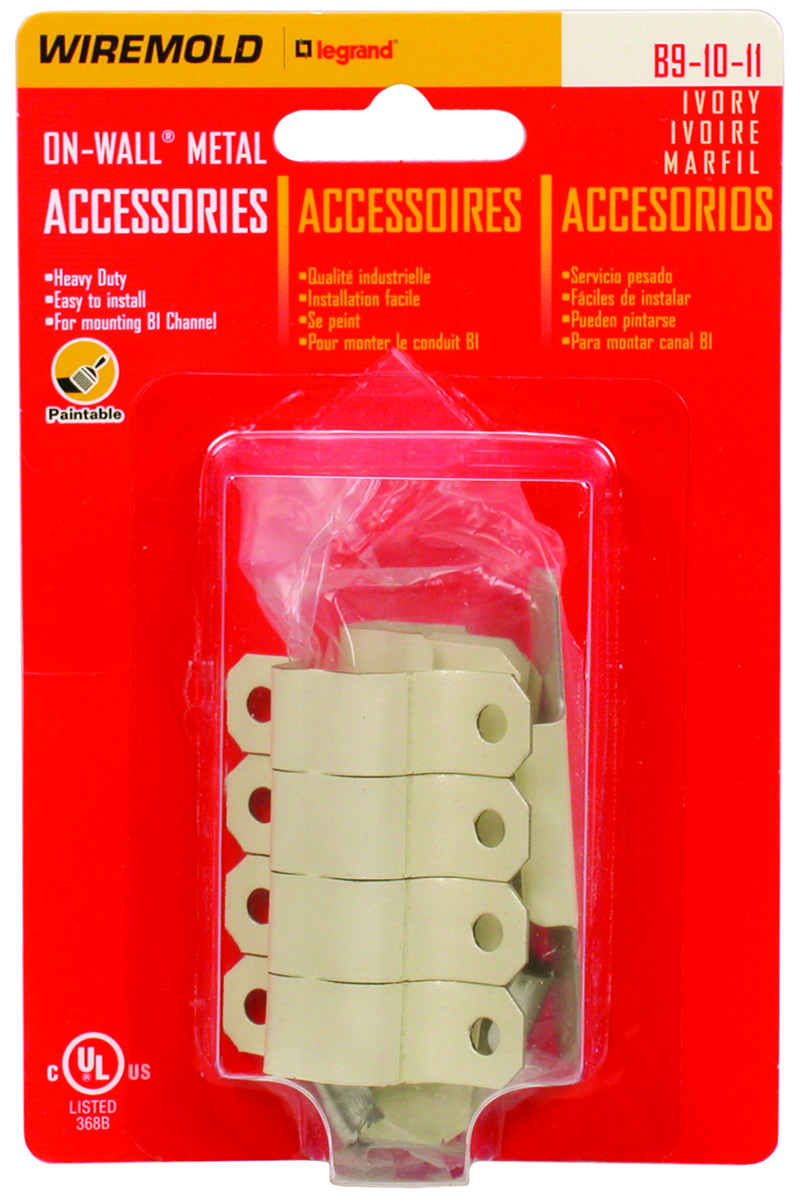 Wiremold B 9 10 11 Channel Wire Accessories Ivory 086698821066 1 Electrical Wiring List Price