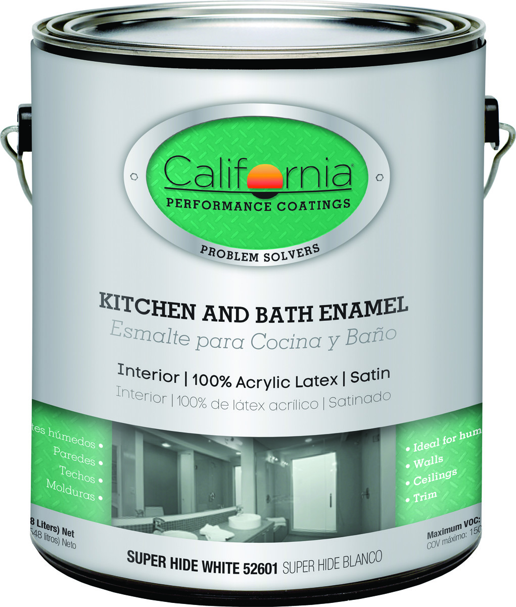 California Products 52601-1 Satin White Kitchen & Bath Enamel Gallon Water  Based
